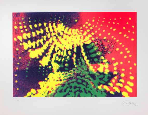 Otto Piene - Silkscreen in colors