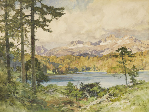 Edward Harrison Compton - Watercolor