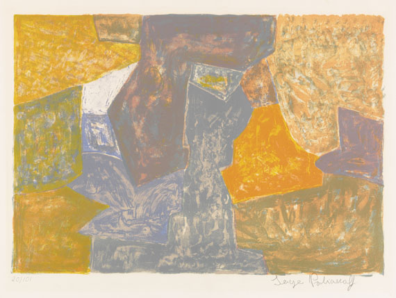 Serge Poliakoff - Lithograph in colors