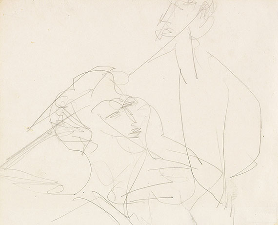 Ernst Ludwig Kirchner - Pencil drawing