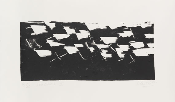 Günther Uecker - Woodcut