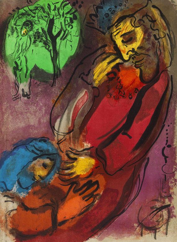 Marc Chagall - Lithograph in colors