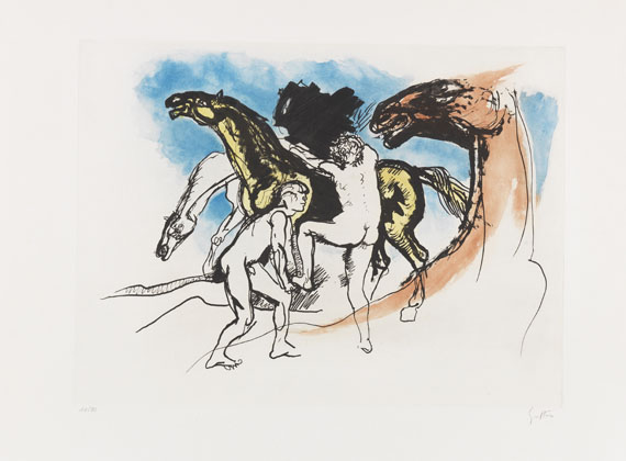 Renato Guttuso - Etching and aquatint in colors